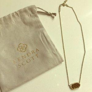 Kendra Scott Elisa necklace in gold drusy